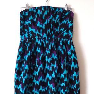 Shoshanna Blue Multi Cocktail Dress